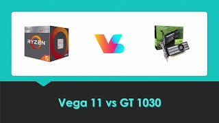 Vega 11 (Ryzen 5 2400G) vs GT 1030 - (1080P) New Games Comparison