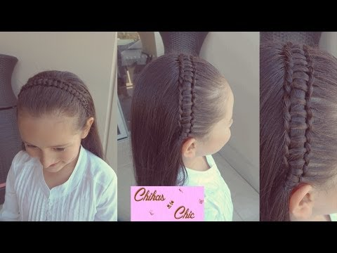 Trenza Pasacinta-Trenza en Linea - Line Braid-Passes Through Ribbon Braid | Chikas Chic