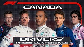 2019 Canadian Grand Prix: Pre-Race Press Conference