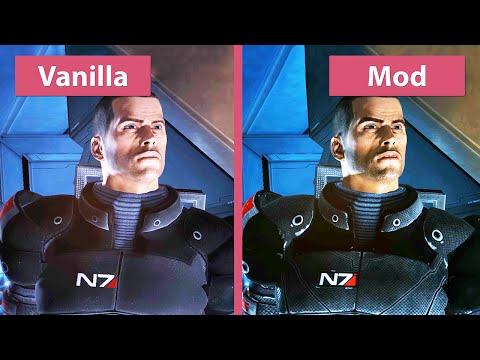 Mass Effect – Original vs. Mod Remaster Graphics Comparison