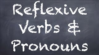 Reflexive Verbs & Pronouns - German 2 WS Explanation