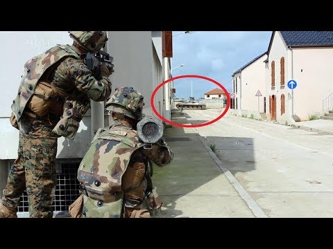 US Marines & French Soldiers Urban Close Combat Training in France