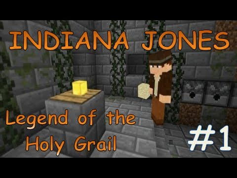 Indiana Jones Legend of the Holy Grail | Minecraft xbox 360 Adventure Map #1 | With Map Download