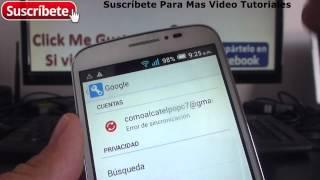 Alcatel Onetouch Pop C7 eliminar cuenta de google en android Español