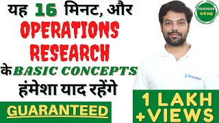 #1 Operation Research: History, Definition, Characteristics, Phases, Scope, Limitations in HINDI