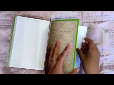 Дневник для девочек своими руками видео фото