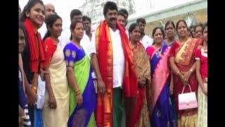 Politician and Film Celebrates Visit Tirumala