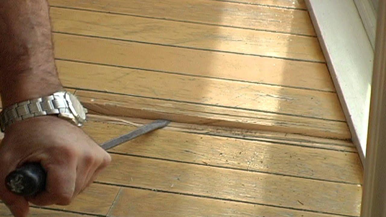 Plancher de bois franc réparations YouTube # Plancher Bois Franc