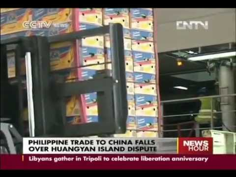 PHILIPPINE TRADE TO CHINA FALLS OVER HUANGYAN ISLAND DISPUTE