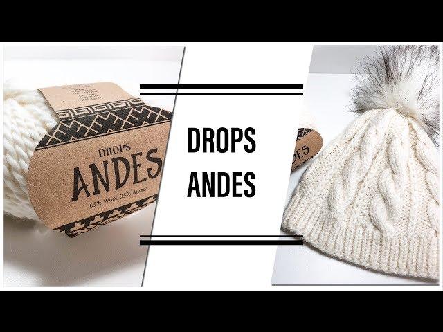 Обзор пряжи и готовых изделий из Drops Andes