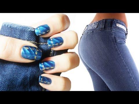 Jeans Nail Art Tutorial