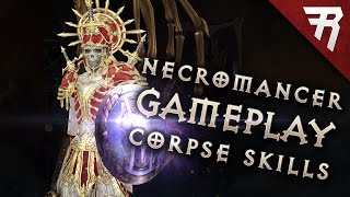 CORPSE EXPLOSION! Army of the Dead! Necromancer Skills Part 3 (Diablo 3 2.6 beta gameplay)