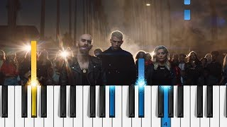 Download Lagu Machine Gun Kelly, X Ambassadors & Bebe Rexha - Home - EASY Piano Tutorial - (Bright: The Album) Gratis STAFABAND