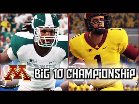 NCAA Football 14 Dynasty: Big 10 Championship vs #2 Michigan State - Season 8