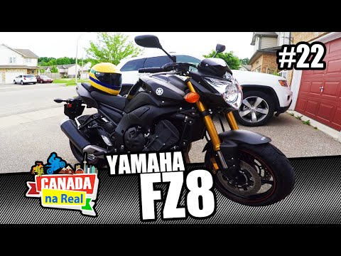 Apresentando a nova moto!!! Yamaha FZ8     CANADA NA REAL