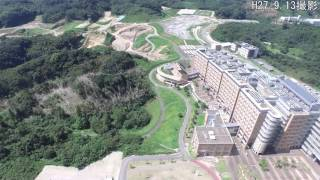 九大伊都キャンパス誕生10周年 ドローンによる空撮映像