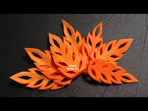 Carrot Leaf - Lesson 17 - by Mutita Art of Fruit & Vegetable Carving
