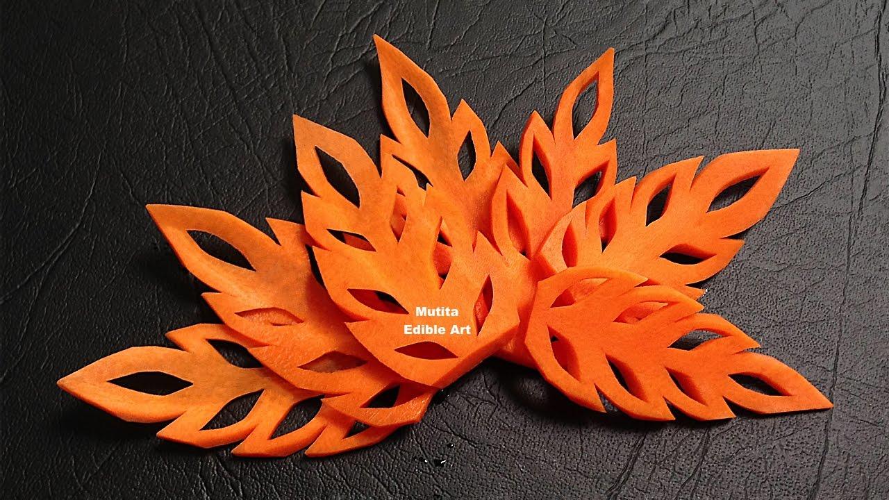 Simple carrot leaf design beginners lesson by mutita