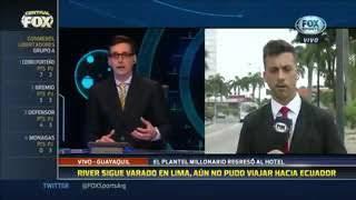 Copa Libertadores el equipo principal de River Plate quedó varado en Lima