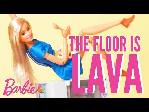 Floor is Lava Challenge at Home | Barbie