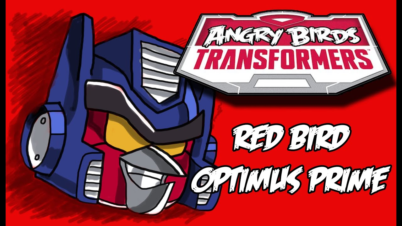 How To Draw Optimus Prime Bird Angry Birds Transformers