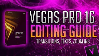How To Edit with VEGAS Pro 16 for YouTube! (Adding Text, Transitions, Zoom-Ins & More!)