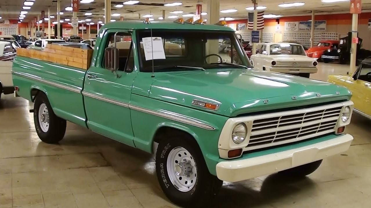 1969 Ford F250 Pickup 360 V8 Youtube
