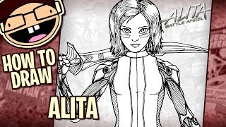 How to Draw ALITA (Alita: Battle Angel) | Narrated Easy Step-by-Step Tutorial