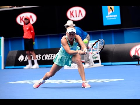 Caroline Wozniacki vs Thomas Townsend Brown Highlights HD PART 1 Australian Open 2015