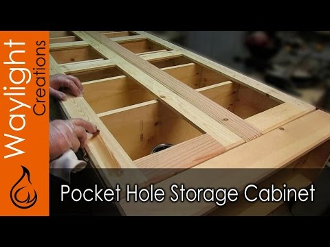 Easy DIY Wood Storage Cabinet