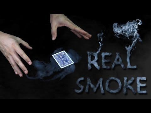 SMOKE FROM HANDS production revealed and card mat - AMAZING Real Smoke Tutorial