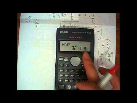 Ecuaciones con fracciones, números decimales periódicos y potencias. Mica