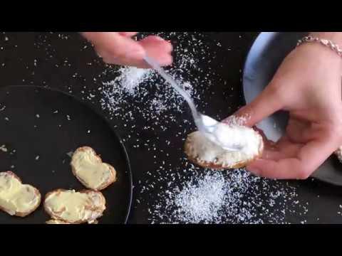 Receta rápida de palmeritas de coco