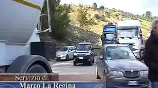 Sciopero Cgil Cisl Uil Lsu Lpu sulla statale 106 a Roseto, 13 dicembre 2013