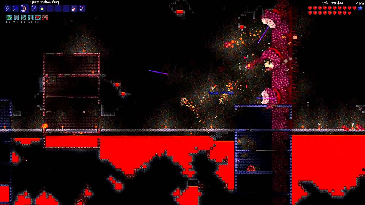 terraria how to kill wall of flesh solo