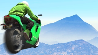STUNTING UP THE MOUNTAIN! (GTA 5 Funny Moments)