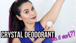 NATURAL DEODORANT THAT WORKS: Crystal Mineral Deodorant Stone Review