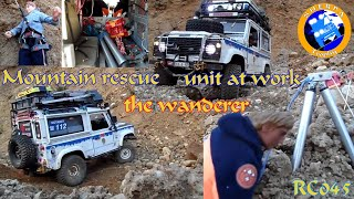 Mountain Rescue Unit at work - the Wanderer - Landrover Defender - Scale Offroad - RC 045