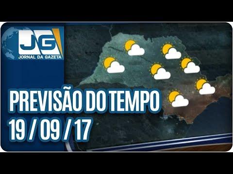 Previsão do Tempo - 19/09/2017