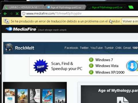 tutorial como descargar age of mythology por mediafire
