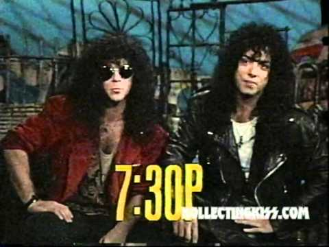 KISS Eric Carr Paul Stanley 1989 MTV Afternoon Hosts