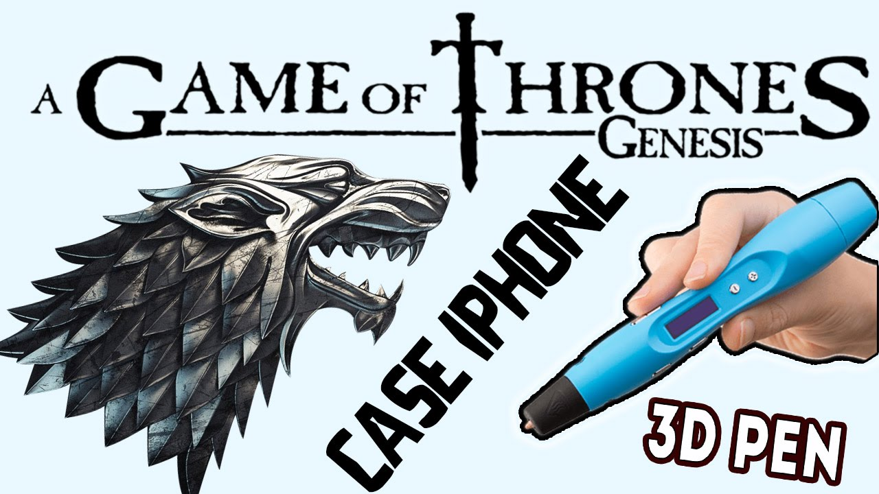 3Д РУЧКА ИГРА ПРЕСТОЛОВ ЧЕХОЛ ДЛЯ ТЕЛЕФОНА/3d pen game of thrones iphone case