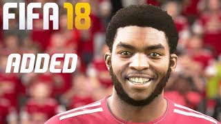 FIFA 18 - 10 Real Faces Added