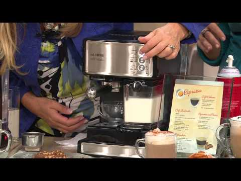 Mr. Coffee Cafe Barista Espresso, Latte & Cappuccino Maker w/Grinder with Albany Irvin