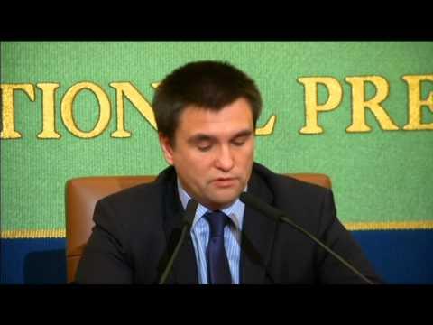 Ukraine's FM in Japan:  Klinkin calls for UN to secure ceasefire in east Ukraine