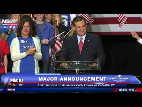 FNN: Ted Cruz Announces Carly Fiorina As Running Mate - FULL SPEECH
