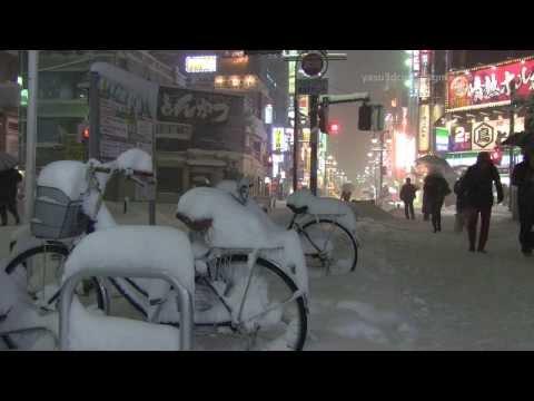 【東京豪雪】2014年2月14日 八王子積雪60cm 八王子と府中【tokyo heavy snowfall】