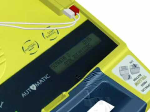 Italian DAE defibrillator Powerheart G3 Plus user demo Cardiac Science