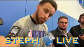 Twitch: Steph Curry remainder of Q&A from Warriors morning shootaround b4 LAL