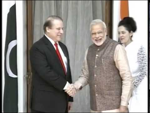 PM Shri Narendra Modi meets Pakistan PM Mr. Nawaz Sharif